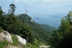 Outlook from way up to Mt. Misen