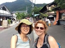 strolling down the streets in Yufuin