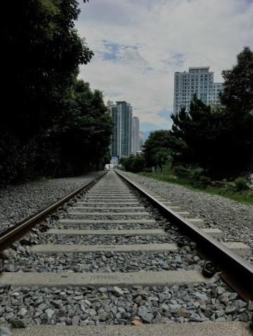 Rails leading to town