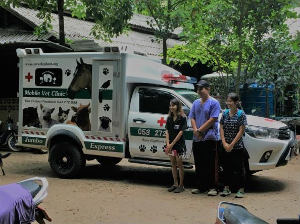 they got a new truck for helping the animals in the area around the park