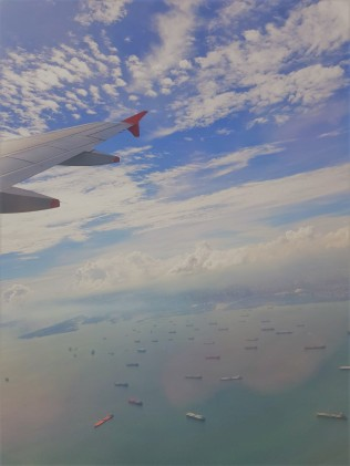 Flying out of Singapore