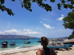 View to Lombok from Gili Air