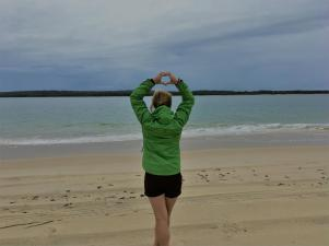 On the way to Fraser Island