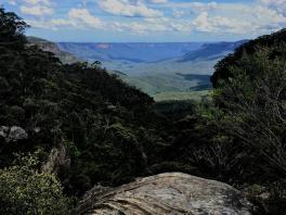 after climbed the 1'000 steps ... nice view over the Blue Mountains