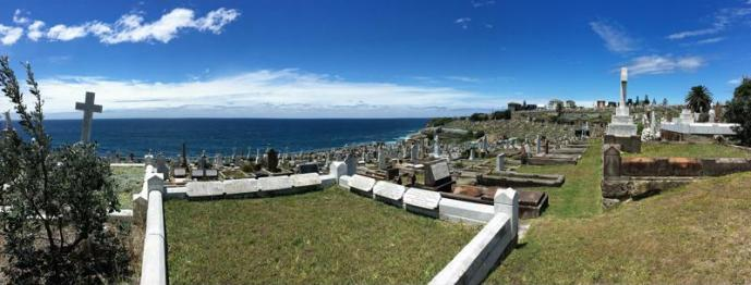 Not a bad view for a cemetry ....