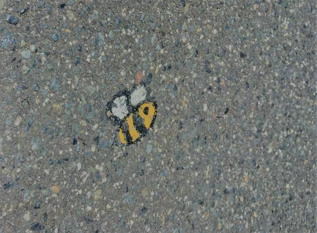 bees on the street